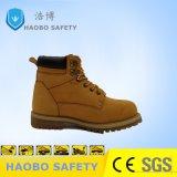 Pattini di sicurezza mezzi del lavoro del cuoio di Nubuk di colore giallo del taglio