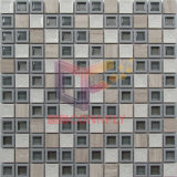 Смешайте травертина Crystal с пластмассовой рамкой Мозаичное оформление (CSR097)