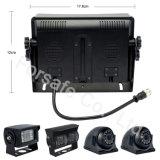 Panel de Quad de 7 pulgadas Cámara retrovisor con cámara estanca IP69K