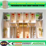 Casa prefabricada de lujo concreta prefabricada del chalet de la estructura de acero de la luz del panel