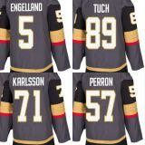 2018 Nova Marca Ad Mens Lady Kid Vegas Golden Knights 5 Deryk Engelland 89 Alex Tuch 71 William Karlsson David Perron Cinza qualquer nome personalizado & N. Hockey camisolas