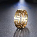 De holle uit Gouden Decoratieve In het groot Ring van de Juwelen van de Manier van het Patroon