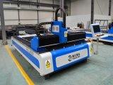Máquina de estaca inoxidável do laser da fibra do aço de carbono para a placa galvanizada