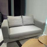 Diseño simple de 2 plazas sofás de tela