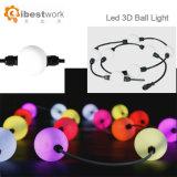 Kleurrijke Melkachtige 3D LEIDEN van het Koord van de Bal DMX512 Licht voor Decoratie