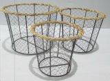 Cestino di frutta del cestino dell'alimento del cestino di collegare del pollo del metallo