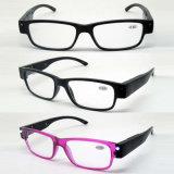 Promoção de moda óculos de leitura de injecção com luz de LED