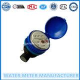 Tipo de marcação seca Single-Jet medidor de água no corpo de plástico preto