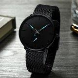 Мода мужские наручные часы верхней части марки роскошь кварцевые часы мужчин повседневный тонкая стальная сетка водонепроницаемый спорта смотреть