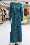 Banheira de vender Prining Indian mulheres muçulmanas moda casual vestido casaco novo design de moda vestido de Noite