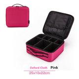 Couro PU Travel esmalte de unha Organizer Zipper compõem Bag