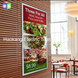 [لد] [بيكتثر فرم] قائمة الطعام لوح [ليغت بوإكس] لأنّ مطعم جدار يعلن إشارة