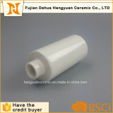 Frasco cilíndrico branco simples da porcelana