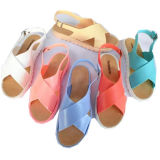 Beach Elegant Ladies PVC Jelly Chaussures Femme Sandale avec strass