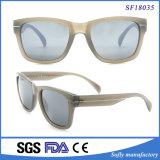 Form-Frauensun-Glas-beige Rahmen-Sonnenbrillen