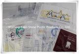 Sacs de tirette estampés par coutume transparente de LDPE