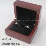 Rectángulo de regalo brillante de madera modificado para requisitos particulares del embalaje de la joyería