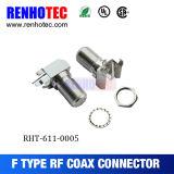 Conector impermeable de la compresión F del cable RG6