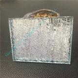 Verre feuilleté bleu-clair/glace décorative/glace Tempered avec la belle ondulation de l'eau