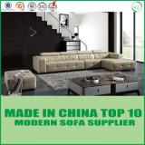 Echtes Leder-Sofa-Hauptbett mit Feder