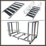 Cubierta de madera contrachapada etapa móvil portátil de aluminio para la venta