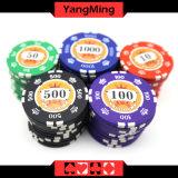 760HP 12g autocolante Chips de póquer de barro puro definido para jogo de azar com caixa de alumínio com número e o logotipo UV Ym-Sghg003