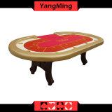 Des Fabrik-einfache Texas-Holdem Fuss-ökonomischer vorbildlicher Texas-Schürhaken-Spiel-Tisch Schürhaken-Tisch-H mit 10 Sitzen Ym-Tb019