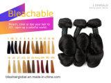 Het Braziliaanse Maagdelijke Haar van de Zaligheid van het Menselijke Haar van de Kleur van de Golf van de Lente van het Haar Zwarte