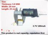 Bateria de polímero de lítio de 3.7V 052025 502025 180mAh MP3 MP4 MP5