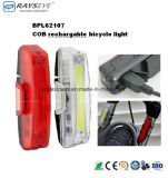 Luz trasera recargable COB frente de la bicicleta Luz
