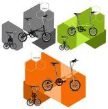 알루미늄 합금 단 하나 속도 접히는 자전거
