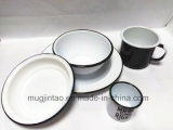 Assiette en émail Plateau / émail Plateau / ustensiles de cuisine Ustensiles de cuisine Émaillage / Assiette de salade