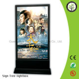 LEDのライトボックスを広告する映画の細いライトボックスの文字