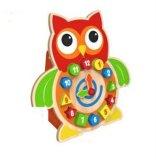 Prenda de Natal quente 2 em 1 Bloco de Madeira da função relógio brinquedo para crianças e crianças