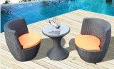 3 parti del rattan del sofà del PE della mobilia del sofà della mobilia esterna del rattan