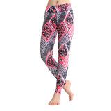 El entrenamiento corriente colorido jadea la yoga Legging para las mujeres