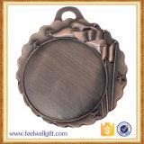 Medalha em branco de bronze do futebol do futebol da inserção da prata do ouro de Matt da gravura