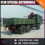 Dongfeng軍6X6 7tonのトラッククレーン