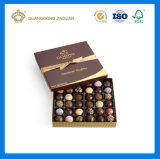 Embalagem de empacotamento impressa do presente do chocolate da caixa do chocolate do chocolate cor luxuosa (fabricante de Guangzhou)