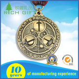 Les médailles faites sur commande professionnelles avec du nickel/laiton d'argent d'or ont plaqué