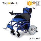 Topmediは軽量アルミニウムFoldable力の電動車椅子の価格にハンディキャップを付けた