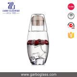 carafe chaude en verre de Borosilicate de couvercle d'acier inoxydable de la vente 900ml
