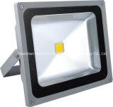 백색 색깔 285*245*160mm AC165-265V 50W 옥수수 속 LED 플러드 빛