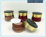 Bouteilles en verre cosmétiques colorées rouges de luxe et chocs en verre cosmétiques