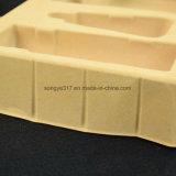 Estetiche su ordinazione dei fornitori gialli che si affollano il cassetto impaccante della bolla