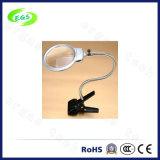 LED-Licht-Griff-Schreibtisch-Schelle-Vergrößerungsglas-Lampe/Lupe für Schönheits-Salons