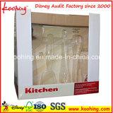Коробка Corrugated изготовленный на заказ бумаги печати выдвиженческая упаковывая для чашек Kitchenware