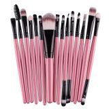 Cepillo de labios mejorado del cepillo de la sombra de ojo del maquillaje del cepillo del maquillaje 15PCS