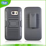 ハイブリッドTPU+PC Kickstand携帯電話の箱、Samsung S7の端のケースのSamsungの電話箱のために、