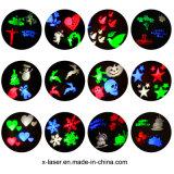 Decoración de la Navidad de la lámpara de proyección del LED con las diapositivas permutables